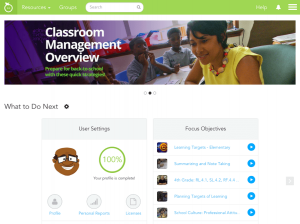 edivate homepage screenshot
